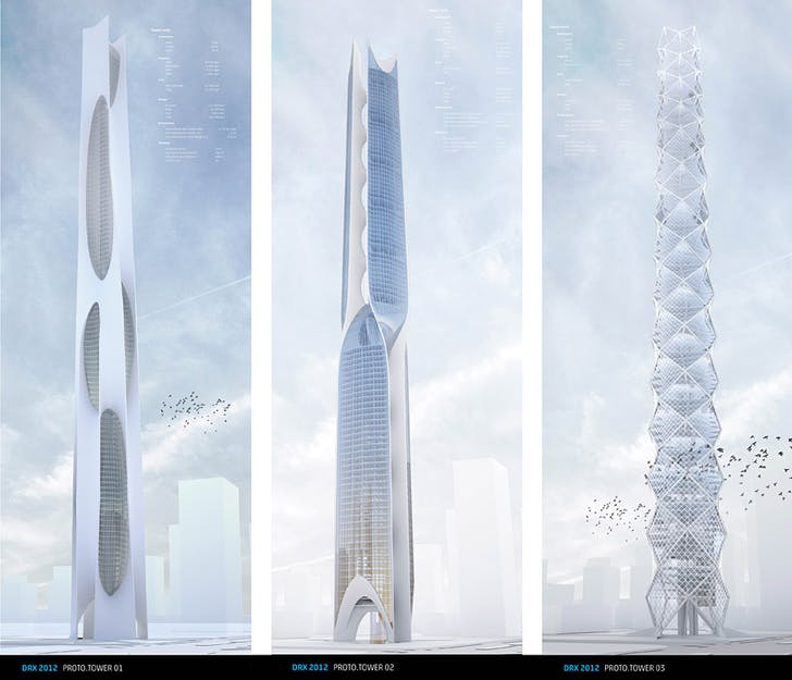 ProtoTower I-III: Renderings.