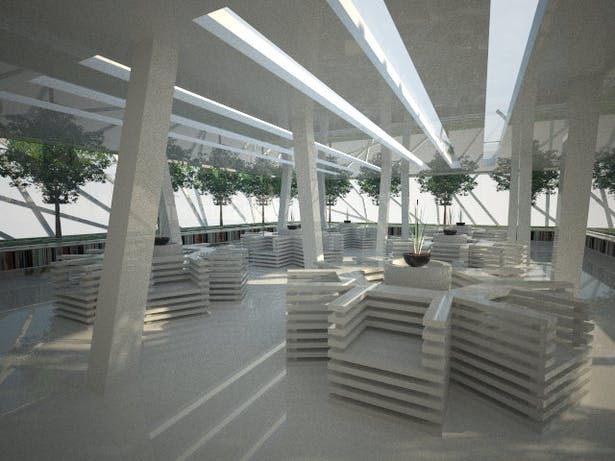 Miami style reading room