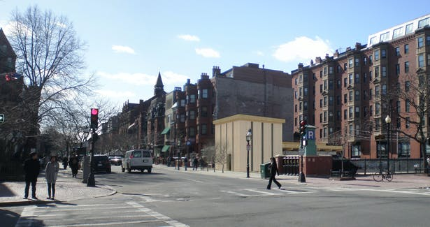 image of building around it's context on Newbury Street