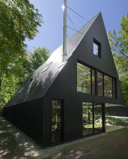 Best Residential Architecture, Single Family - Jean Verville Architecte: FAHOUSE, Eastern Townships, Canada. Photo credit: Azure