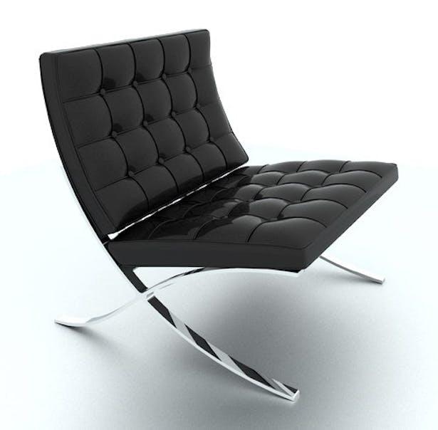 Barcelona Chair - Rendering