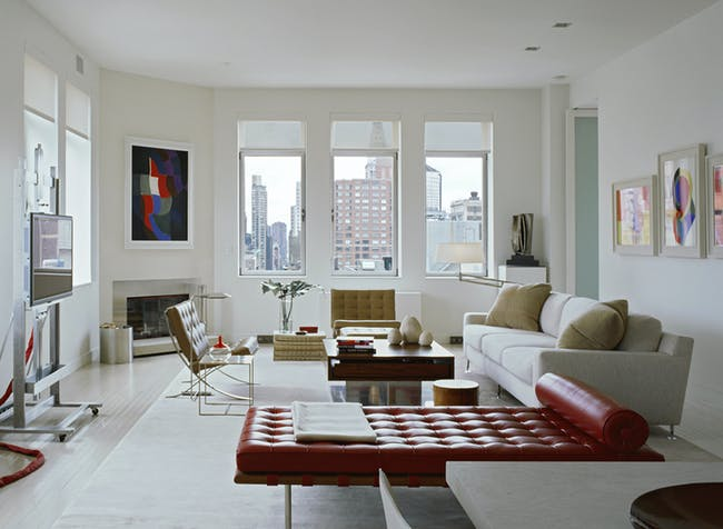 Chelsea Penthouse, NY by Bruce Bierman Design. Photo: Photo: Peter Margonelli