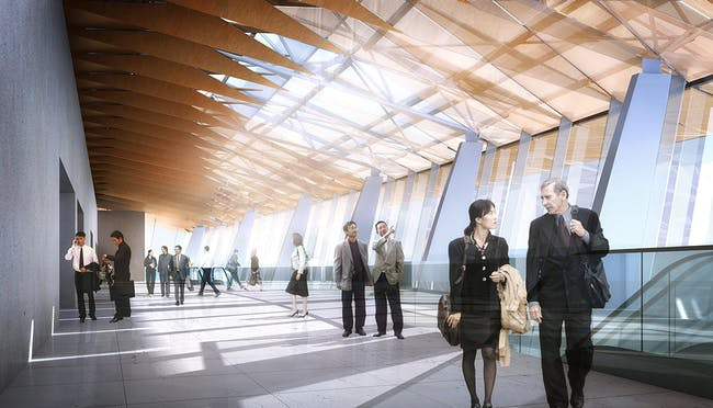Qintai lobby (Image: Adrian Smith + Gordon Gill Architecture)