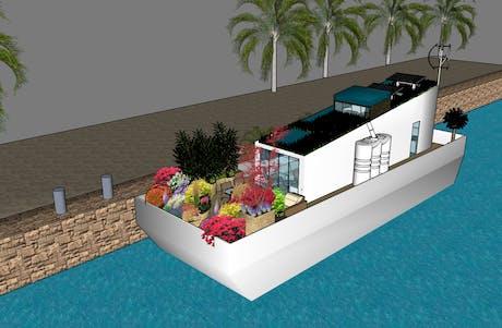 Smar living concept of af houseboat