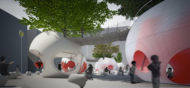 PLAYscapes Honorable Mention entry - 'Plant-a-BALL PARKS' by OP-AL.