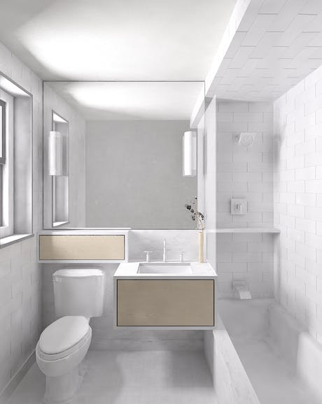 Client F master bath rendering