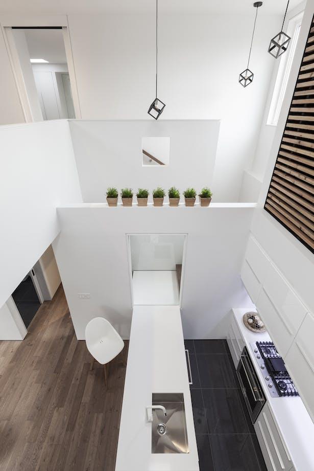 void / staircase / kitchen