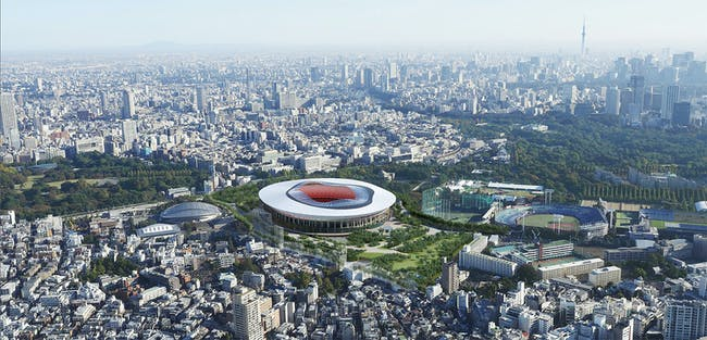 Design B - believed to come from Toyo Ito's firm. (Photo: Japan Sports Council)