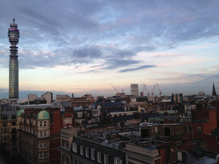 London skyline from the Royal Institute of British Architects. Photo by Robert Urquhart.