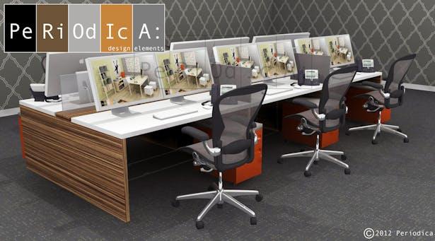 Cluster of 6 workstations