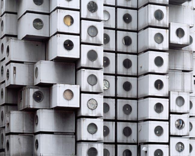 Noritaka Minami, Facade I, 2011, Tokyo, Japan. Courtesy of the artist. From the 2015 Individual Grant to Noritaka Minami and Ken Yoshida for 1972–Nakagin Capsule Tower.