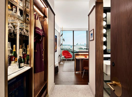 Inside one of the TWA Hotel guest rooms. Photo: David Mitchell, via quartzy.qz.com.