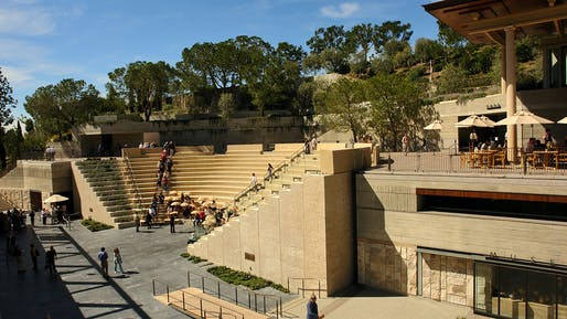 The Getty Villa - Public Grounds by Silvetti, Int'l Assoc. Photo courtesy of AIA.