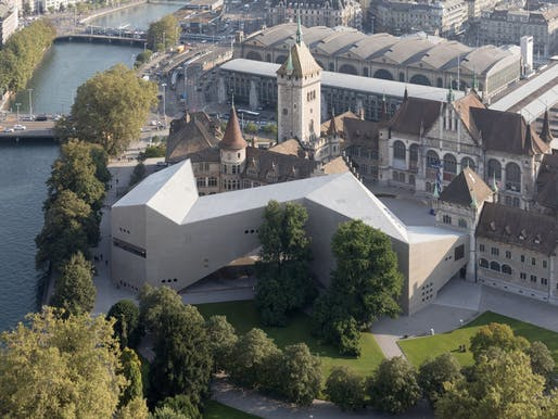 Swiss National Museum extension wing by Christ & Gantenbein. Photo credit: Walter Mair + Iwan Baan