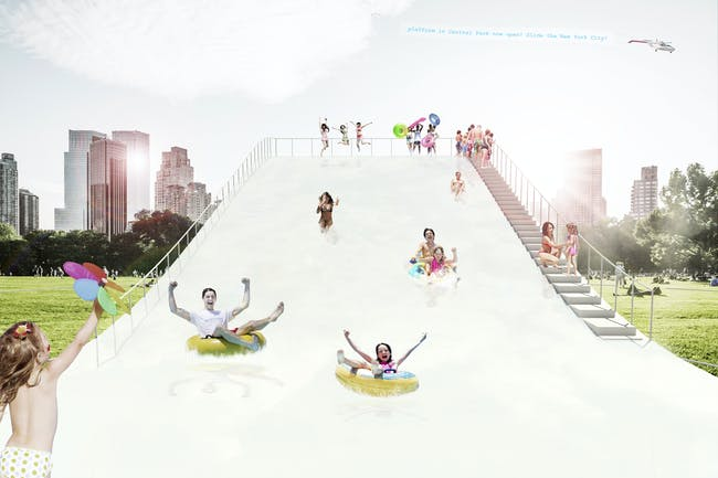 water sliding view