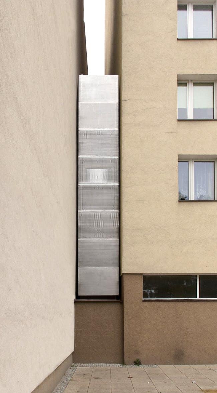 Keret House, the front view by Tycjan Gniew Podskarbinski, © Polish Modern Art Foundation.