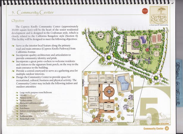 Community Center Site Plan/Floor Plan