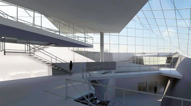Second Level Atrium - Revit