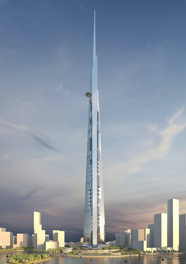 Visualization of Kingdom Tower Jeddah, Saudi Arabia (Image: Adrian Smith + Gordon Gill Architecture)