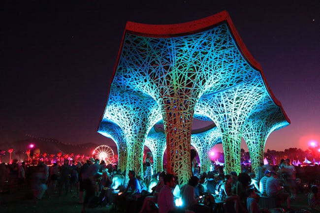 Ball-Nogues' 'Pulp Pavilion' at Coachella 2015 (via ball-nogues.com)
