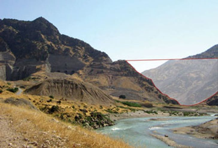 The Kurdistan regional government plans to build a dam in this river valley, a major tributary of the Tigris River. Credit: IK Consulting Engineers
