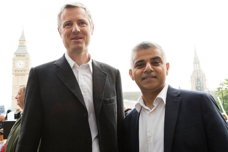 Zac Goldsmith (left) and Sadiq Khan, via standard.co.uk.