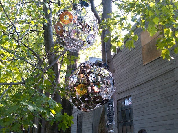 Pieterson & Sgambati_e-waste installation_disco ball_photo