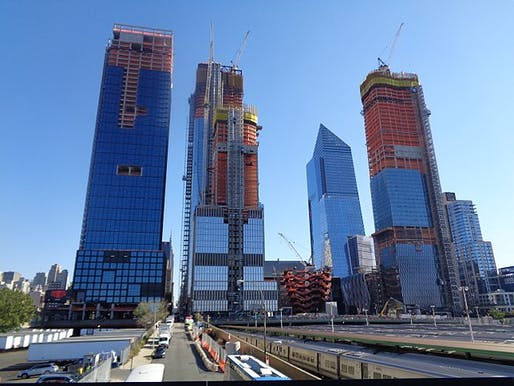 The Hudson Yards project in October 2017. Photo: Tdorante10/Wikimedia Commons.