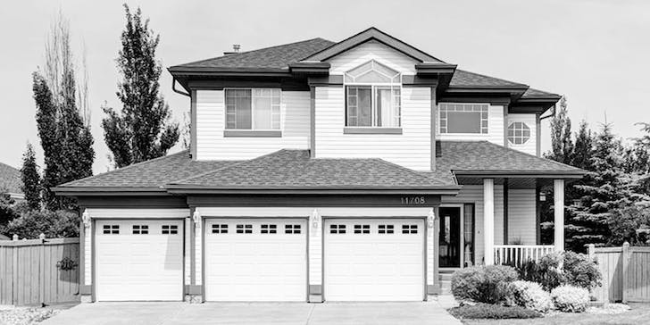 A typical suburban house with a triple garage. ©Royal LePage