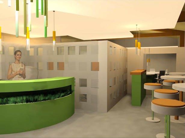 Reception Area 3dsmax Render