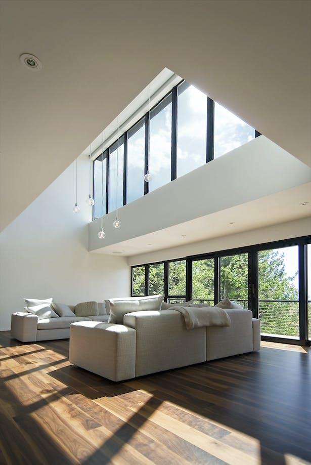 living room, double volume space