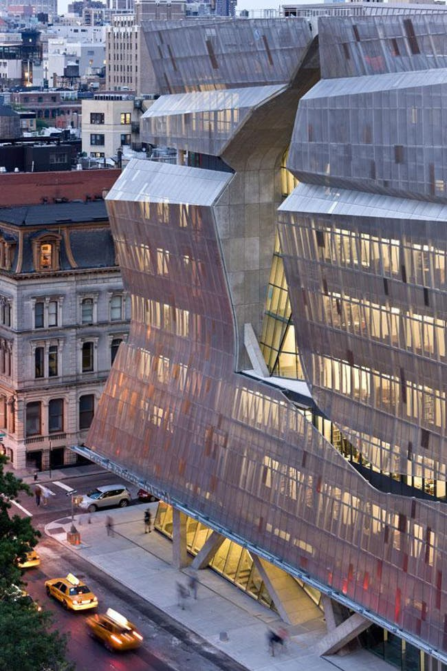 Cooper Union Center for Advancement of Science and Art in New York, New York, by Morphosis. Image courtesy of the MCHAP.