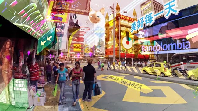 Still from Keiichi Matsuda's future vision, Hyper-Reality.