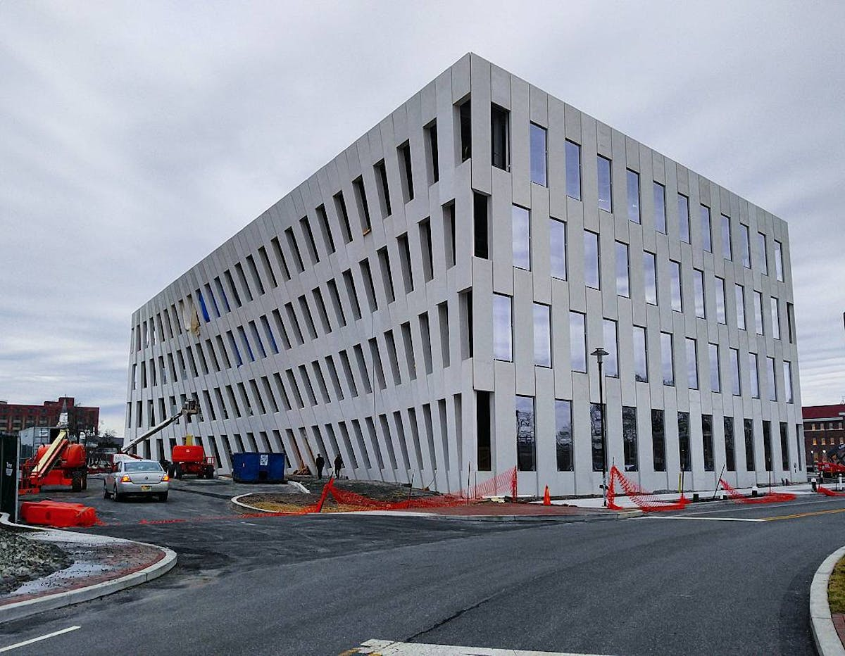 "Philly Auto Group >> Inga Saffron calls BIG's new Navy Yard building ""mesmerizing"", ""reminiscent of a Richard Serra ..."