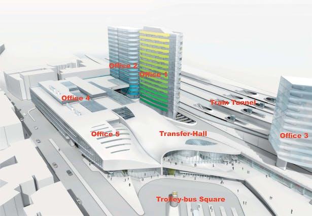 Visualisation of the Masterplan