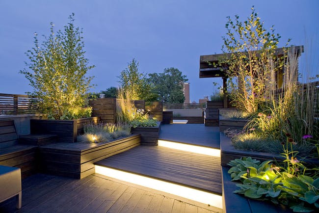 Sculptural rooftop & garden in Chicago, IL by dSpace Studio
