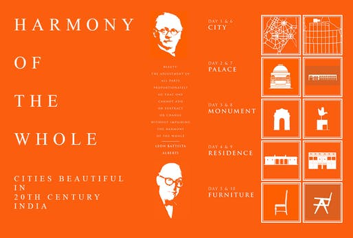 """""""Harmony of the Whole: Cities Beautiful in 20th Century India"""" by Kristen Gates and Thomas Nye. Image courtesy of RAMSA."""