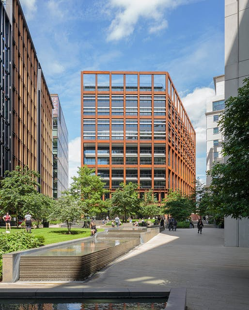 4 Pancras Square, by Eric Parry Architects. Photo: Dirk Lindner.
