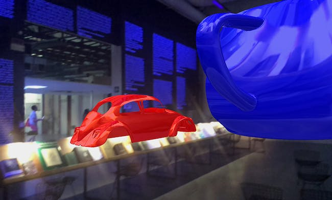 Project 2: The VW Beetle Shell, 1967, and The Utah Teapot, 1975 by Ivan Sutherland and Martin Newell. Image courtesy of Güvenç Özel