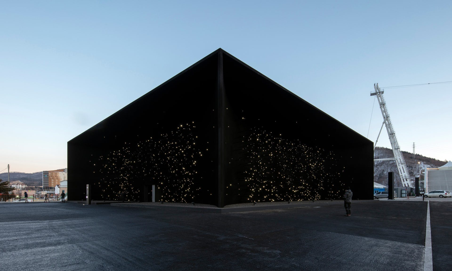 Image result for picture of hyundai pavilion black building
