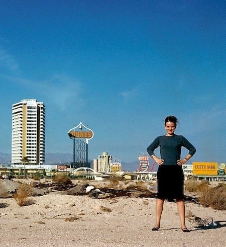 Architect: Denise Scott Brown⠀ Year: 1966⠀ Location: Las Vegas⠀ Photographer: Robert Venturi. @shesthearchitect.