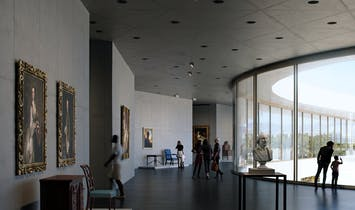 Long-awaited floor plan and interior gallery images of Peter Zumthor's LACMA redesign emerge