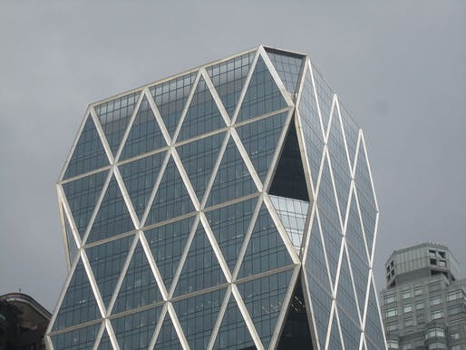 The Foster + Partners-designed Hearst Tower in Manhattan was the first LEED Gold-certified skyscraper. Image courtesy of Wikimedia user Billy Hathorn.