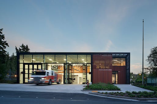 Mercer Island Fire Station 92; Mercer Island, Washington by Miller Hull Partnership. Photo: Lara Swimmer.