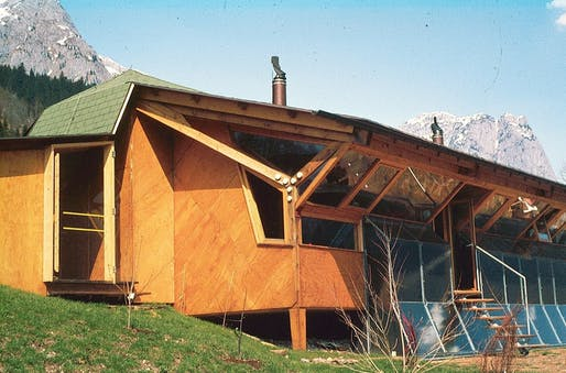 First Austrian solar house, designed by Konrad Frey. © Konrad Frey