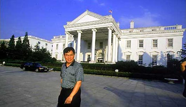 The Chinese entrepreneur Huang Qiaoling's replica White House. Credit: NextNature