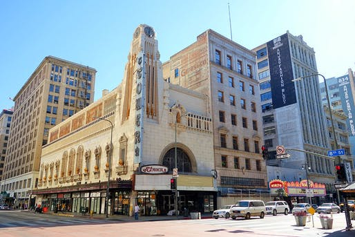 Downtown Los Angeles' Tower Theatre, image via brighamyen.com