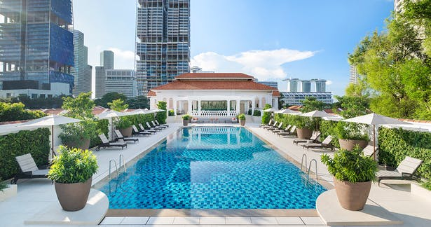 Swimming pool, Photo by Raffles Hotel