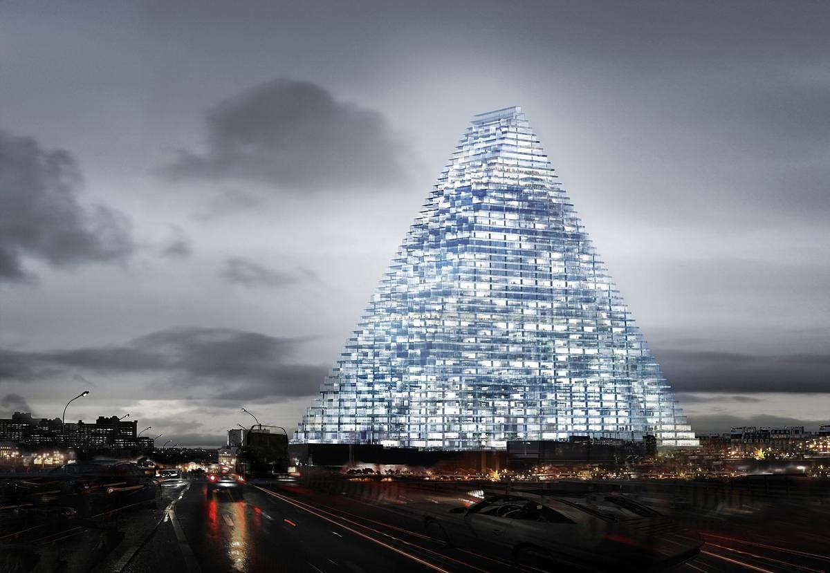 Construction of le triangle is expected to be completed for the olympic summer games 2024 in