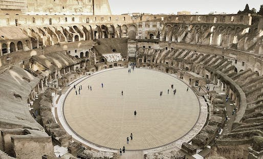 Rendering of the proposed new Colosseum arena floor by Milan Ingegneria. Image: Milan Ingegneria/Instagram.